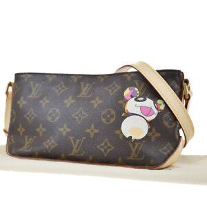 Auth LOUIS VUITTON Trotteur Shoulder Bag Monogram Panda Brown M51241 666LB216
