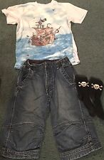 BOYS H/&M \  DENIM DEPT DESIGNER 2 PIECE SET DRESS SWEATER /& PANTS SIZE 9-10Y