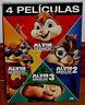 ALVIN Y LAS ARDILLAS 1-2-3-4 PACK 4 PELICULAS DVD NUEVO PRECINTADO (SIN ABRIR R2