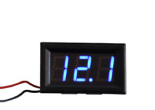 DIGITALE  VOLTMETRO LED DISPLAY TESTER 3,5 - 30 VOLT BLU