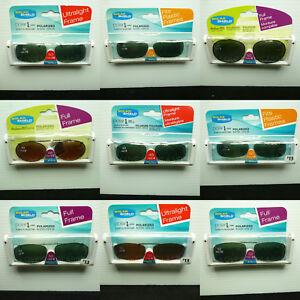 Sunglasses solar shield polarized clip on spring brand new 100% uv protection
