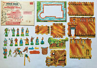 1956 Kraft Food Candy Character Premium ROBIN HOOD NOTTINGHAM CASTLE 3-D Playset