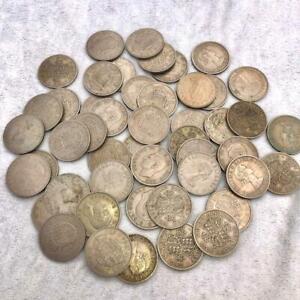 COLLECTION 695g GEORGE VI & ELIZABETH II HALF CROWN COINS - LOT 84