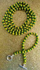 Collar, Orula Mano de Orula/ Icofa Yoruba Religion Bracelet and Necklace