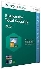 Kaspersky Total Security 2017 5 PC / Gerät 1Jahr Vollversion Key ESD Download
