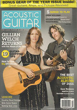 ACOUSTIC GUITAR February 2012 GILLIAN WELCH Hank Williams TAB Lessons +BONUS MAG