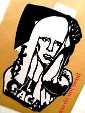 """LADY GAGA Original Pop Art, Music Celebritie Sticker 6""""X 8½"""" inches Portrait."""
