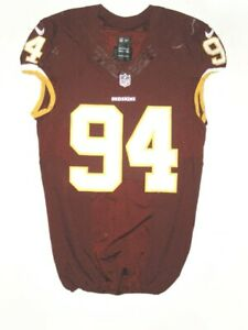 "PRESTON SMITH GAME USED ""JERSEY SWAP"" WASHINGTON REDSKINS NIKE JERSEY GOOD USE!!"