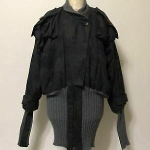 Vivienne Westwood Anglomania Bomber Jacket Charcoal Gray Women Size L Oversized
