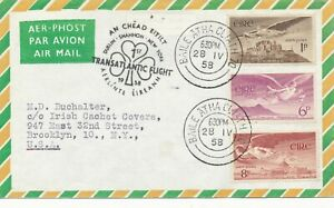 1958 AERLÍNTE ÉIREANN 1ST TRANSATLANTIC FLIGHT DUBLIN - NEW YORK