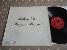RARE UK VINYL LP NM ROLLING STONES BEGGARS BANQUET RED DECCA LABEL LK.4955 CLEAN