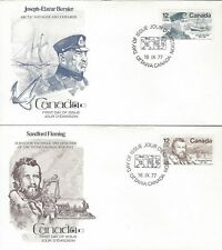 1977 #738-9 Famous Canadians set of 2 FDC with Fleetwood cachet