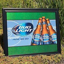 """Bud Light NBA NCAA Basketball Beer Bar Pub Man Cave Mirror """"New"""""""