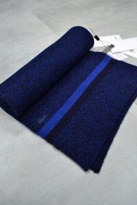 Lacoste Premium Merino Wool Extra Fine Scarf Made In France Men's Unisex