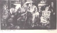 PEGGY BACON Pity The Blind 1939 Vintage Drypoint Etching Lithograph Art Print