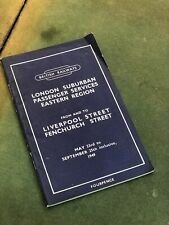 More details for british railways 1949 liverpool st & fenchurch st timetable