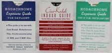 Vintage Set of 3 EXPOSURE GUIDES: DAYLIGHT, INDOOR, TYPE A FILM by Eastman Kodak