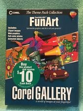 Corel Gallery FunArt PC CD clip art, web graphics, photos and more (New)