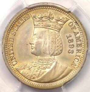 1893 Isabella Commemorative Quarter 25C - PCGS Uncirculated Details (MS UNC)