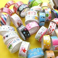 FD558 Rolls Mixed Cartoon Deco Washi Tape Adhesive Scrapbooking Sticker ~3PCs~