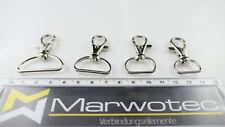 Karabinerhaken mit geradem Wirbel in 4 versch. Größen für Schlüsselband Gurtband