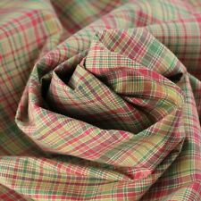 Shipton Red Green Gold Jewel Plaid Cotton Home Decorating Fabric BTY Discounted!