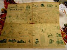 "Historical Putnam County New York Map 1940 Robert J Seymour Copyright 16X20"""