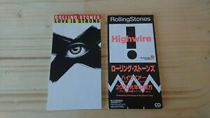 """ROLLING STONES 2x JAPAN 3"""" CD Snap Pack Maxi EPs LOVE IS STRONG / HIGH WIRE rar"""