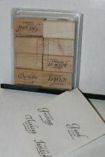 Stampin Up retired stamps Sincere Salutations 8 pc little staining