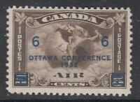 """Canada MINT OG Scott #C4 6 cent on 5 cent olive brown """"Air Mail""""  F"""