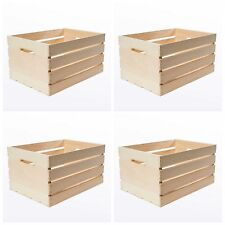 Large Wood Wooden Crate Box 4 Craft Storage Decorative Boxes Vintage Style Lot
