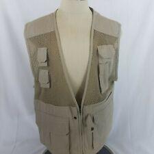 Orvis Fly Fishing Vest Size Large Mesh Multi-Pocket Khaki Outdoors