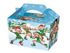 10 ~ Christmas ELF Party Food Boxes ~ Childrens Xmas Meal Bag Plate Box