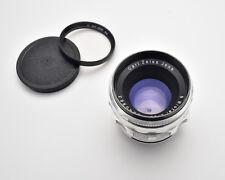 Carl Zeiss JENA Biotar f/2 58mm Lens Silver Exakta EXA Mount Germany (#3448)