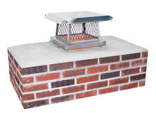 """9"""" x 13"""" Stainless Steel Bolt On Chimney Cap by Olympia"""