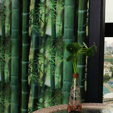 Bamboo Printed Glass Window Film Static Cling Film Privacy Green 45x100cm