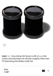 Two T3 volumizing hot rollers luxe, 1.75 (pair) With Clips