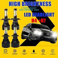 4Side H4 H7 LED Headlight Kit Bulbs Globes Lamp For Ford Falcon BA BF FG XR6 XR8