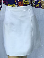 Ralph Lauren Purple Label Womens Skirt White Size Large Ribbed