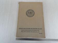 CATALOGO PARTI DI RICAMBIO ORIGINALE 1931 CHASSIS FIAT 505 F507 F 505F 507F