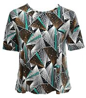 Womens New Sparkly Silver Polka Short Sleeve T-shirt Top Black Brown White Green
