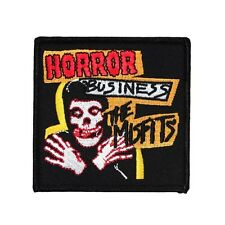 "The Misfits ""Horror Business"" Cover Art Patch Punk Fan Apparel Iron-On Applique"
