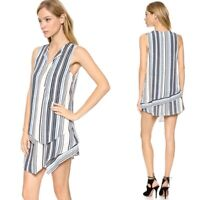 Torn by Ronny Kobo Layered Aziza Dress in Blue PREOWNED