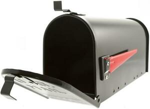 Burg Wachter Aluminium US Style Mail Post Box Weather Resistant Black American