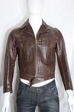 vintage Horsehide Leather Jacket SMALL 30's Flight Motorcycle Work