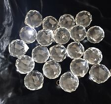 "Lot 20 Prism Acrylic Balls Sphere Chandelier faceted 1.75"" Clear (100 Available)"