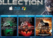 Blu Ray BATMAN & ROBIN & IL RITORNO & FOREVER & BEGINS 4 Blu Ray Alta Definizion