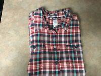 Women's PATAGONIA Organic Cotton Long Sleeve Plaid Flannel Shirt Size 14 (CON16)