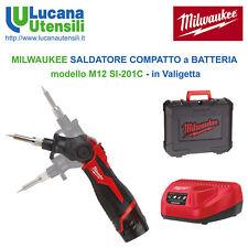 MILWAUKEE SALDATORE COMPATTO a BATTERIA 12V modello M12 SI-201C in Valigetta