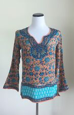 Tolani Tunic Top 100% Silk Size XS